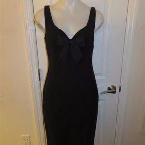 MOSCHINO CHEAP AND CHIC BLACK RIBBON FRONT DRESS-M